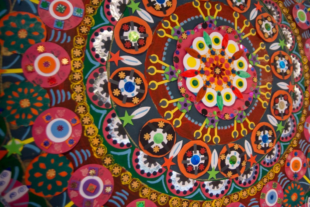 Mandala created by our visual arts groups.