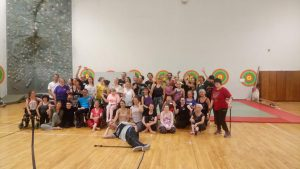 Pictured: A group photo from Meet Share Dance taken at one of the classes indoors in a dance studio